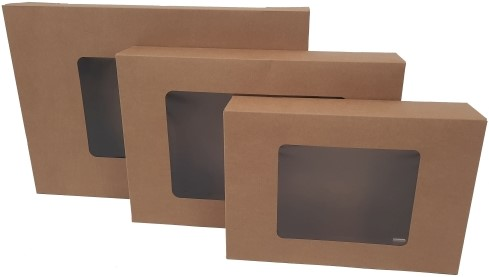 Cateringdoos kraft 55x37,5x8cm met venster
