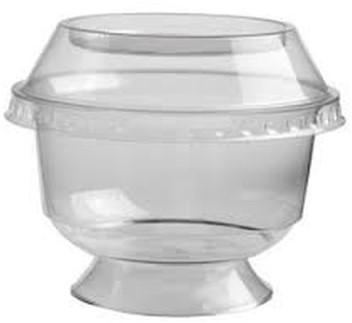 Kristal cup ps rond op voet 95/150cc