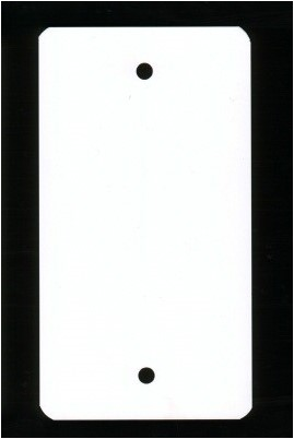 Label PVC 64x118 mm + 2 ponsgaten @1000 st