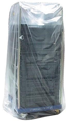 Ldpe zak 100/30x190cm T20 helder op rol containerhoes