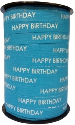Lint Paperlike 10mm 250 meter - aqua Happy Birthday $