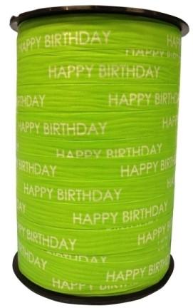 Lint Paperlike 10mm 250 meter - lime Happy Birthday $