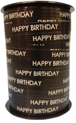 Lint Paperlike 10mm 250 meter- zwart Happy Birthday $