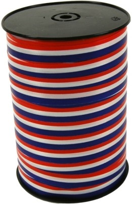 Lint Polyband 10mm 250 meter NL vlag rood / wit / blauw