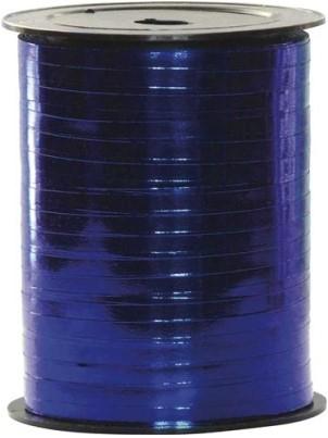 Lint Polyband metallic 5mm 500 meter- blauw 01
