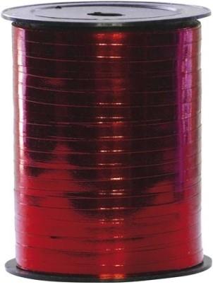 Lint Polyband metallic 5mm 500 meter - rood 15