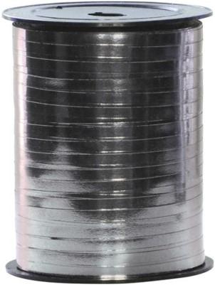 Lint Polyband metallic 5mm 500 meter - zilver