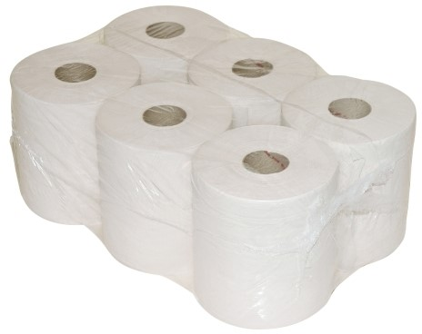 Midirol 300 meter 1 laags wit Paper2Paper @6