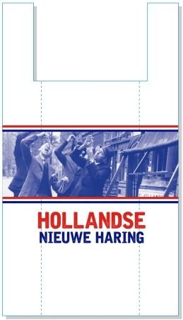Hollandse Nieuwe Haring hemddraagtas 27/6x48 cm