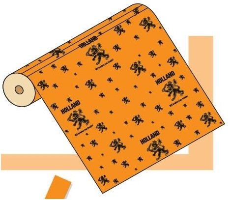 Oranje Holland Apparaatrol 50cm gebleekt kraft $