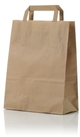 Papieren draagtas 22+11x28 cm bruin
