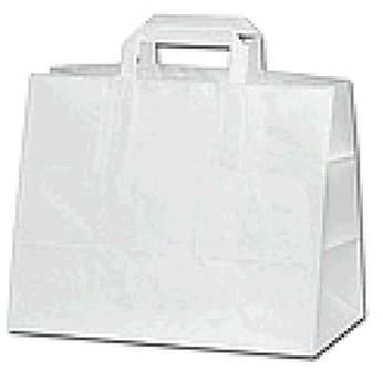 Papieren draagtas 32+18x26cm wit