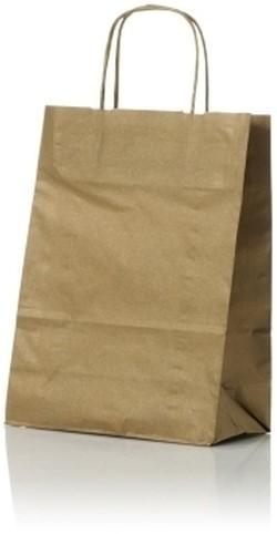 Papieren koordtas 22+10x31cm Goud