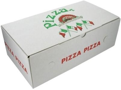 Pizzadoos Calzone Itiaanse vlag 30x16x10 cm