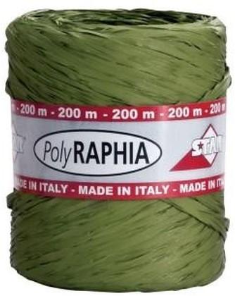 Raffia(poly) 15mm - 200m groen