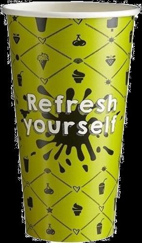 Milkshake beker 500cc Refresh groen