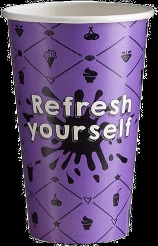 Milkshake beker 400cc Refresh paars