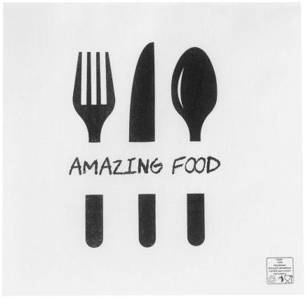 Servetten 33x33cm 1lgs wit 1/4 vouw Amazing Food