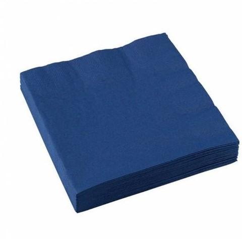 Servetten 40x40cm 2 laags donkerblauw