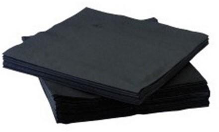 Servetten 33x33cm 2 laags zwart