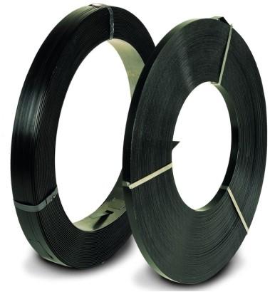 Staalband (AW) 16mm / 0.5 zwart gelakt