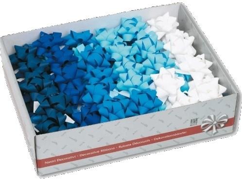 Strik starbow blauw / wit assorti nr 94