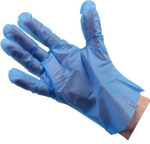 Handschoen TPE comfort blauw L