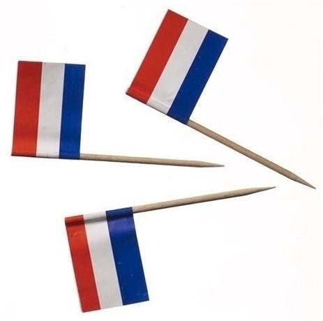 Vlagprikker rood / wit / blauw