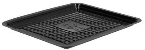 Vleeswarenschaal APET 10x16 cm zwart