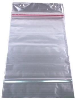 Vleeswarenzak IPP 18x26+2x4 met plakstrip 30my