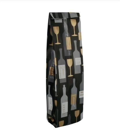 Wijnfles zak 43x10x6cm neutraal