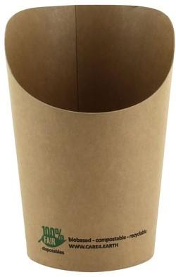 Wrapverpakking 80x60x113mm bruin 100% fair 25611 #