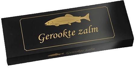 Zalmdoos goud / zwart 620x225x78mm