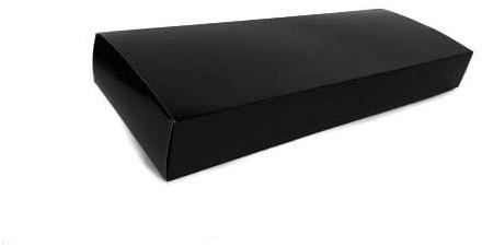 Zalmdoos effen zwart 620x225x78mm